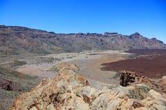 Marsjański pustynia krajobraz, El Teide fotografia stock