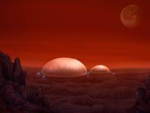 Marsjańskie Kopuły - Cyfrowego Obraz royalty ilustracja