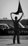 Marskalk med flaggan Royaltyfri Fotografi