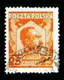 Marskalk Pilsudski, serie, circa 1928 Royaltyfria Foton