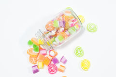 Marsmellow有凝胶甜点背景 库存图片