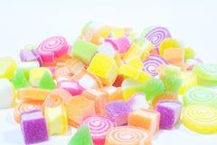 Marsmellow con il fondo del dessert di gelatina fotografia stock libera da diritti