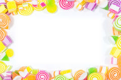 Marsmellow met de achtergrond van het gelatinedessert Royalty-vrije Stock Afbeelding