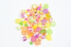 Marsmellow z gelatin deseru tłem fotografia stock