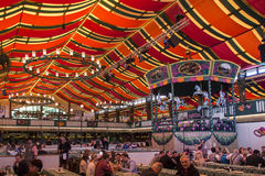 Marstall tent at Oktoberfest in Munich, Germany, 2015 Royalty Free Stock Photography