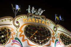 Marstall tent at the Oktoberfest in Munich, Germany, 2015 Stock Photos