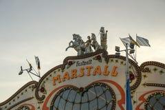 Marstalltent in Oktoberfest in München, Duitsland, 2016 Royalty-vrije Stock Foto