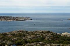 Marstand sailboat island bohuslan sweden. The island of marstrand.At the west coast of sweden stock photo