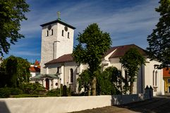 Marstandkerk op Th-eiland van marstrand Stock Afbeelding