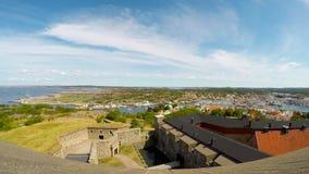 Marstrand港口和城堡 股票视频