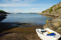 Marstrand ö på västkusten i Sverige arkivbild