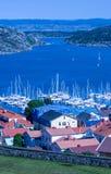 Marstrand miasteczko, Szwecja Zdjęcia Royalty Free