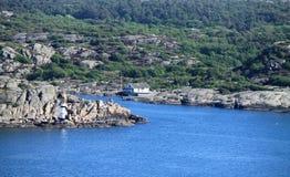 Marstrand od Carlstens fortecy Fotografia Royalty Free