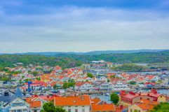 Marstrand, picturesque and popular sailing island Stock Images
