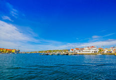 Marstrand, picturesque and popular sailing island Stock Image