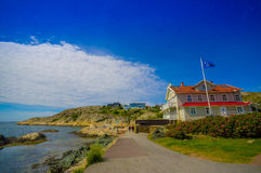 Marstrand, picturesque and popular sailing island Royalty Free Stock Photos