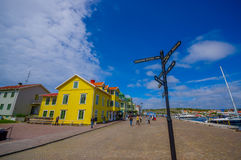 Marstrand, picturesque and popular sailing island Stock Photo