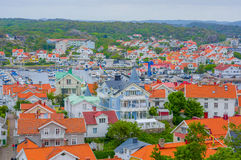 Marstrand, picturesque and popular sailing island Royalty Free Stock Photo
