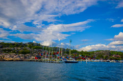 Marstrand, popular sailing island, Sweden Stock Photography