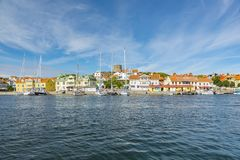 Marstrand in Sweden. MARSTRAND, SWEDEN - JULY 22, 2017: Marstrand is a seaside locality situated in Kungalv Municipality, Vastra Gotaland County, Sweden Royalty Free Stock Images