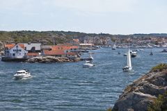 Marstrand village Stock Image