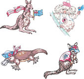 Αυστραλιανά marsupials ζώα Στοκ Εικόνες