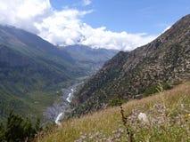 Marsyangdi river valley Royalty Free Stock Photography