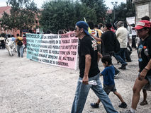 132 marsz protestacyjny Fotografia Stock