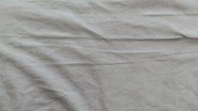 Marszcząca łóżkowych prześcieradeł tkaniny tekstura zdjęcie wideo