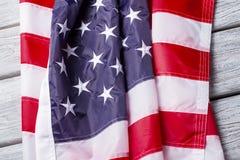 Marszcząca flaga państowowa USA obraz royalty free