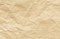 Marszczący brown papieru tekstury tło zdjęcia royalty free
