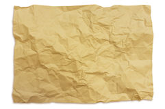 Marszczący papierowy tekstury tło Obraz Stock