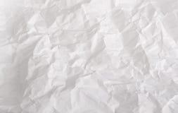 Marszczący szkotowy biały papier Obraz Stock