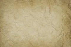 Marszcząca stara papierowa tekstura Obraz Stock