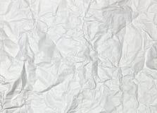 marszczący papierowy biel Obrazy Royalty Free