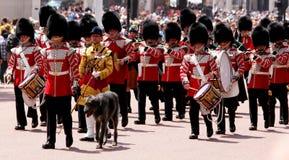 Marszowi gwardziści Londyn Anglia obraz stock