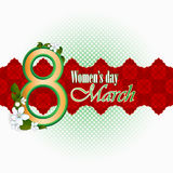 8 marszu kobiety dnia tło z okwitnięcie kwiatami Fotografia Stock