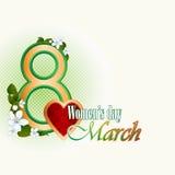 8 marszu kobiety dnia tło z okwitnięcie kwiatami Zdjęcia Royalty Free
