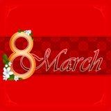 8 marszu kobiety dnia tło Zdjęcia Royalty Free