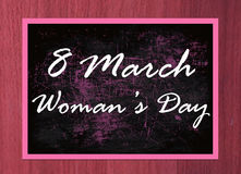8 marszu kobiety szczęśliwy dzień Zdjęcia Stock