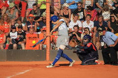 Marta Gasparotto - softball Stock Image