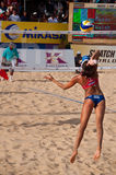 Marta servis 2010 final. Photo could be used to cover story about recent event in Phuket http://www.fivb.ch/EN/BeachVolleyball/Competitions/WorldTour/2010/Event Royalty Free Stock Images