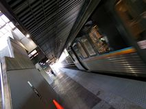 MARTA Train Arrival 2. Image of a MARTA train arriving at a station platform in Atlanta, Georgia Royalty Free Stock Images