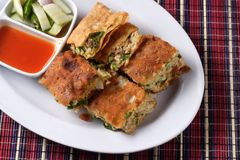 Martabak, alimento popolare dell'Indonesia Fotografia Stock