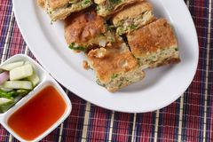 Martabak, indonesia popular food Royalty Free Stock Photography