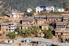 Martadi村庄-西尼泊尔 免版税库存照片