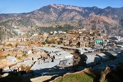 Martadi town or village - bazaar in Nepal Stock Images