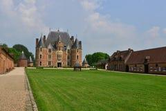 Martainville,法国-可以13 2016年:城堡 库存图片