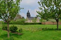 Martainville,法国-可以13 2016年:教会 免版税图库摄影