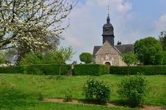 Martainville Frankrike - kan 13 2016: kyrka Fotografering för Bildbyråer